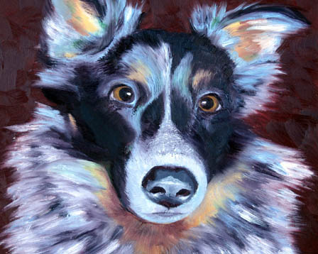 Painting of Buddy Dog, 2010.